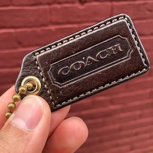 🤗 Coach Brown & Gold leather keychain 🤗